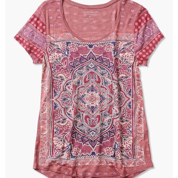 18ca709dc9642 Lucky Brand Tops - Lucky Brand Persian Carpet Tee